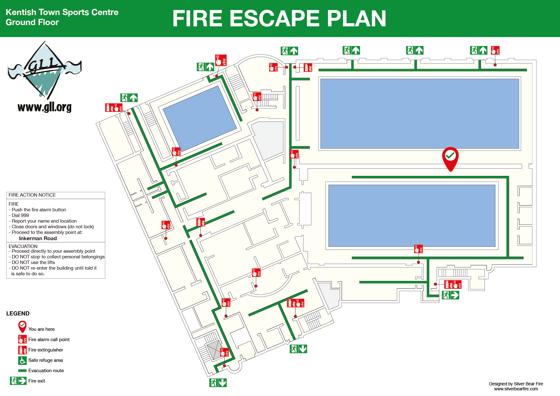 evacuation plan silverbear design