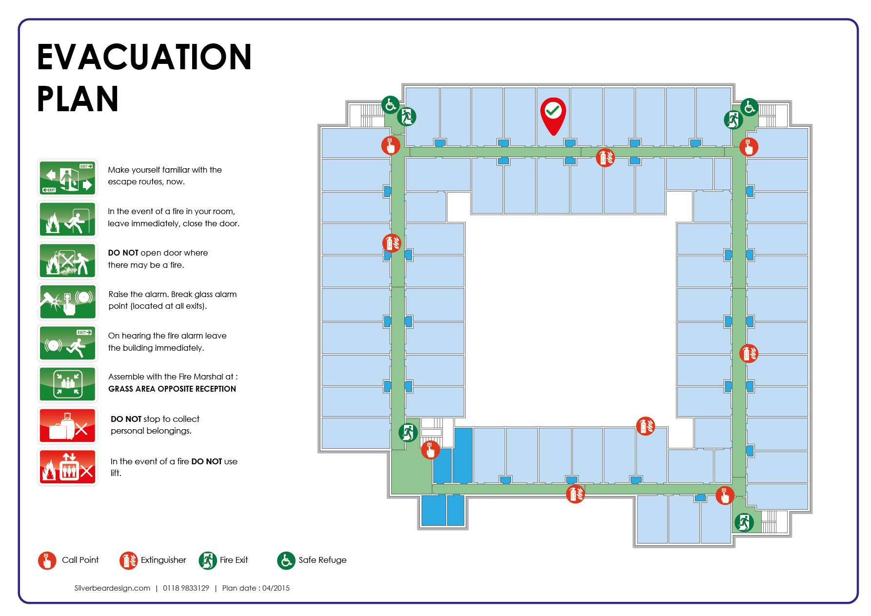 Fire Evacuation Floor Plan | fire point cad symbol