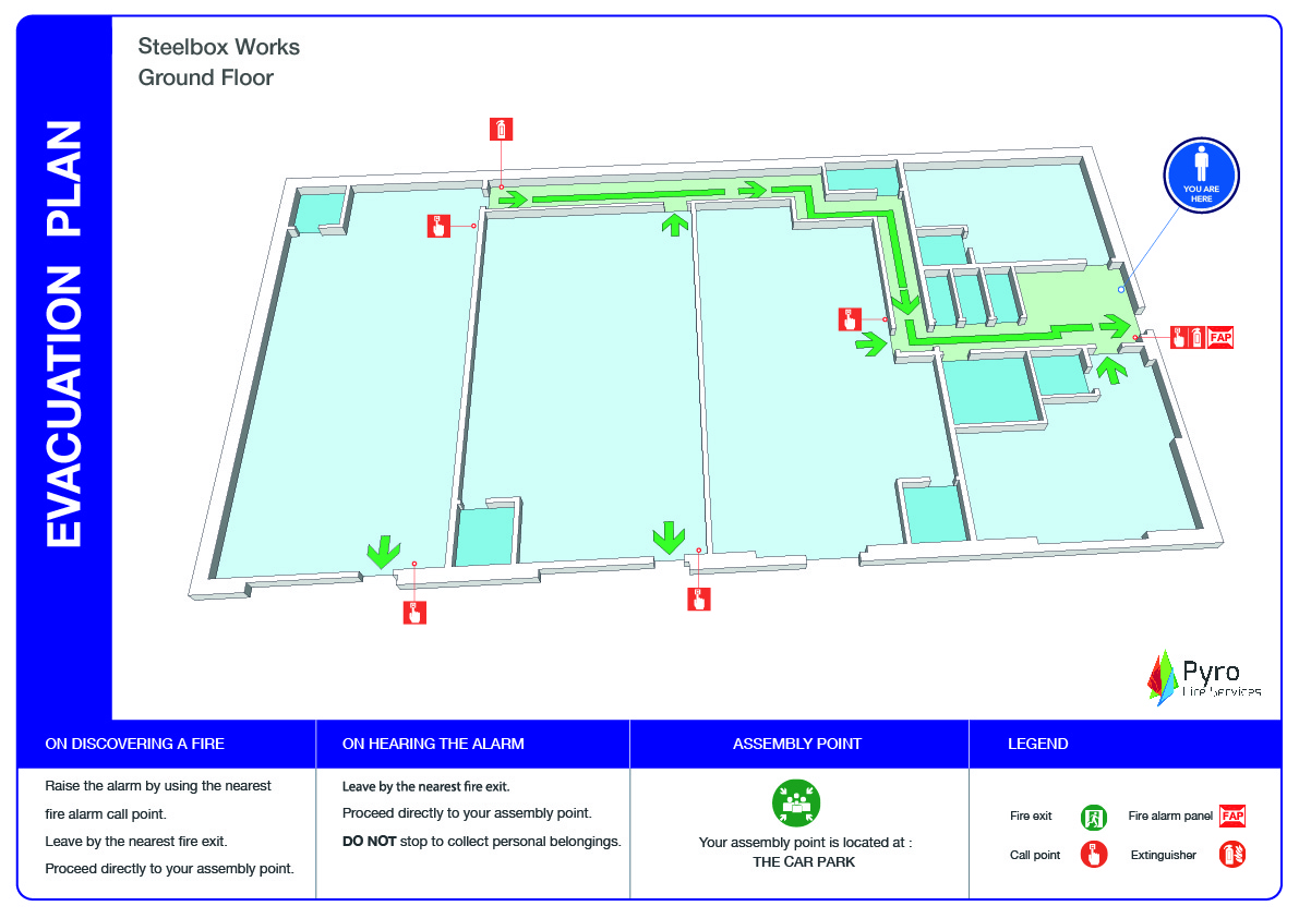 3D Warehouse Evacuation Plan-80