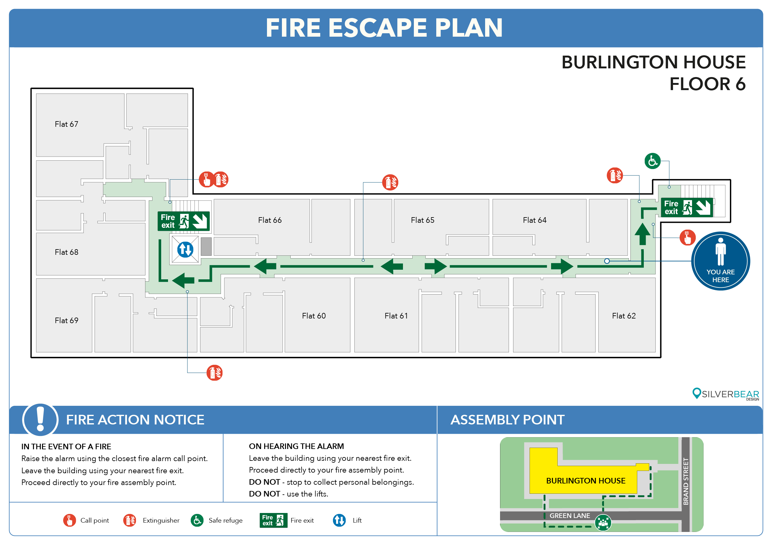 occupant emergency plan template - evacuation plans for flats and apartments silverbear design